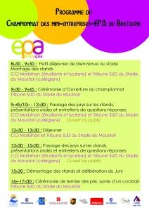Programme Championnat des mini-entreprises-EPA de Bretagne