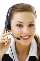 Helpdesk or support operator