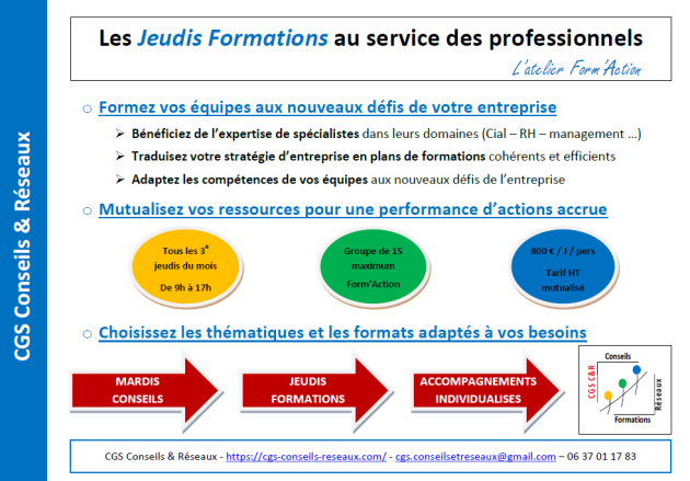 Offre Jeudis Formations